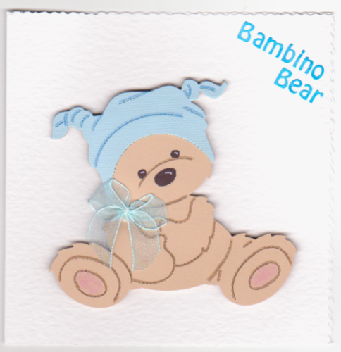NB50 Baby Boy Card Bambino Bear