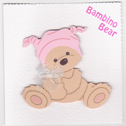 NB49 Baby Girl Card - Bambino Bear