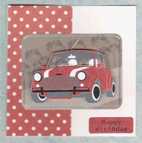 HB175, HB176 Handmade Card - Retro Classic Mini