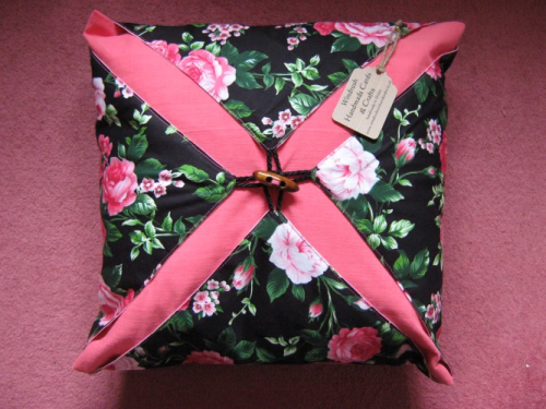 Handmade Cushion Wrap Around Rambling Rose