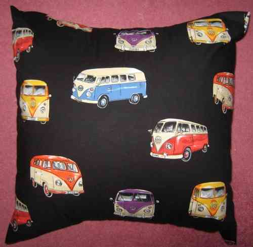 Handmade VW Camper Vans Cushion - Black