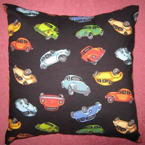 Handmade VW Beetle Cushion - Black