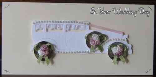 Handmade Wedding Cards - WD15 Wedding Limousine - Pink