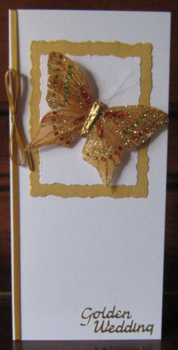 Handmade Golden Anniversary Butterfly Card