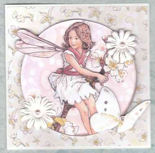 HB107, HB112, HB151 Handmade Birthday Card - Flower Fairies Cream, Yellow & Orange