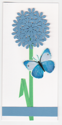 HB147-HB149  Handmade Birthday Card - Allium with Butterfly