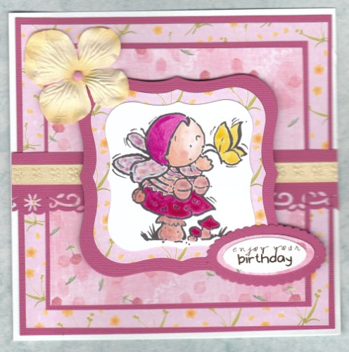 Handmade Birthday Card Fairy on Toadstool