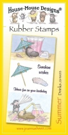 House Mouse Design Unmounted Rubber Stamp Set Summer - Drinks