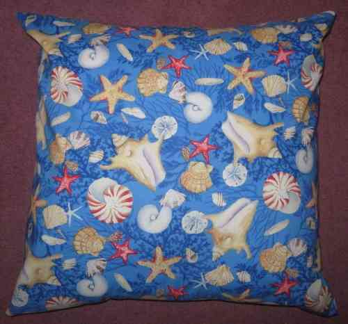 Handmade Beachcomber Cushion - Blue