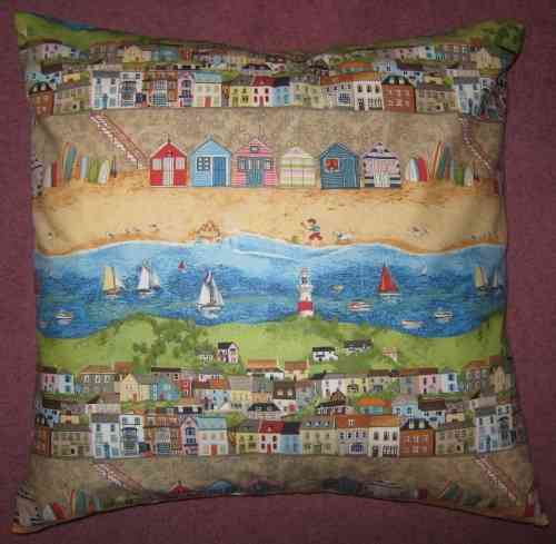 Handmade Seaside Cushion - Border Stripe