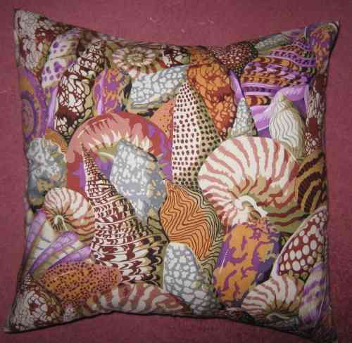 Handmade Cushion - Shell Montage Purple