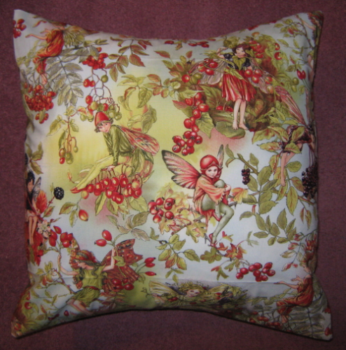 Handmade Cushion - Flower Fairies - Autumn Fairies