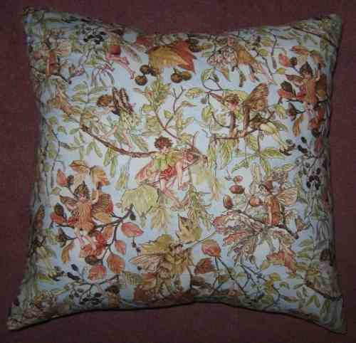 Handmade Cushion - Flower Fairies - Petite Autumn Fairies