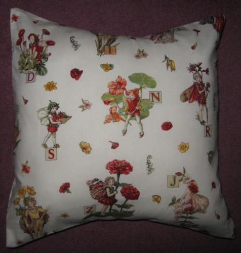 Handmade Cushion - Flower Fairies - Alphabet Fairies