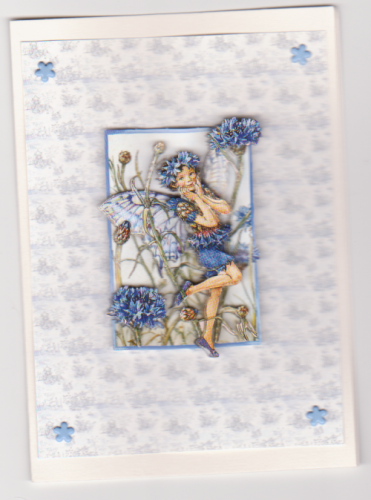 HB50 Decoupage Flower Fairy Patterned