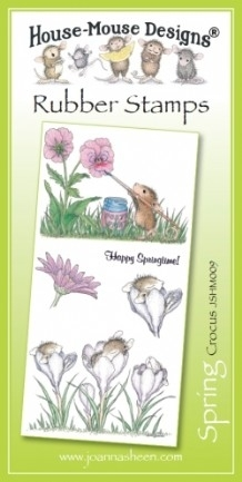 House Mouse Design Unmounted Rubber Stamp Set Spring - Crocus