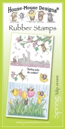 House Mouse Design Unmounted Rubber Stamp Set Spring - Tulip