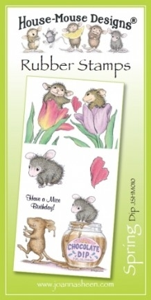 House Mouse Design Unmounted Rubber Stamp Set Spring - Dip