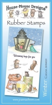 House Mouse Design Unmounted Rubber Stamp Set Winter - Cocoa