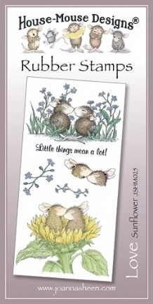 House Mouse Design Unmounted Rubber Stamp Set Love - Sunflower