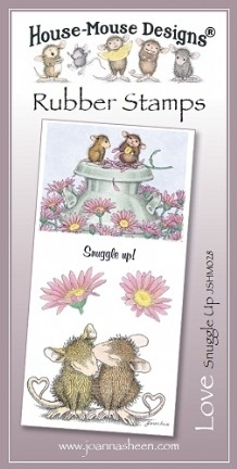 House Mouse Design Unmounted Rubber Stamp Set Love - Snuggle Up