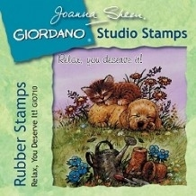 Giordano Rubber Stamps - Relax You Deserve It