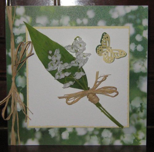 Luxury Handmade Card - Lily of the Valley