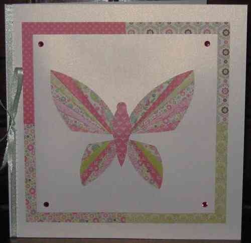 Luxury Handmade Card - Iris Folded Butterfly