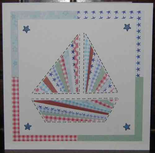 Luxury Handmade Card - Iris Folded Boat