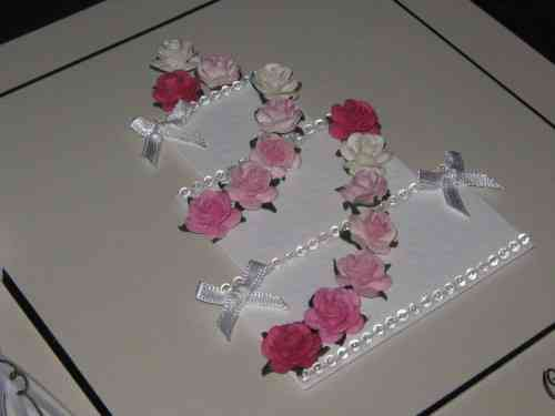 Luxury Handmade Wedding Card - Wedding Cake Pink