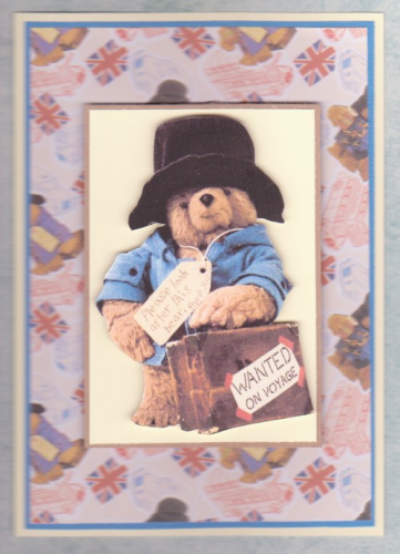 Handmade Paddington Bear Card