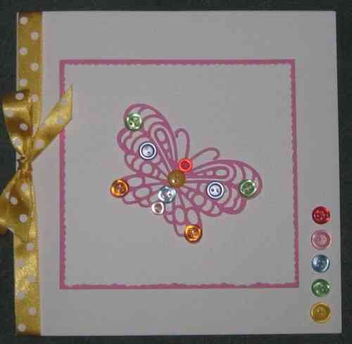 Luxury Handmade Card - Personalised Buttonfly