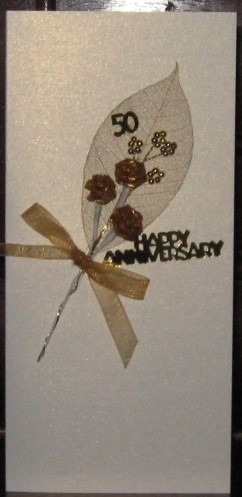 Handmade Golden Anniversary Bouquet Card