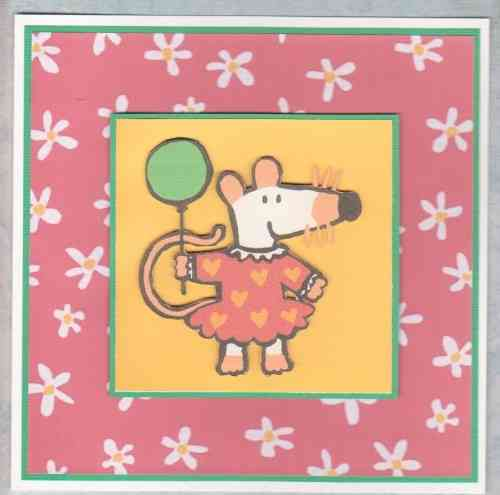 Personalised Handmade Maisy Mouse Card 2