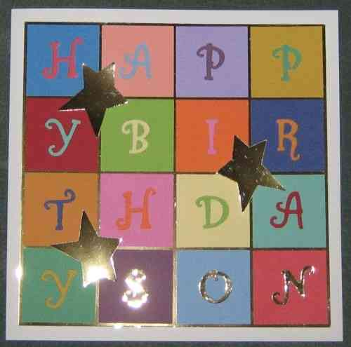 Handmade Card - Happy Birthday Blocks