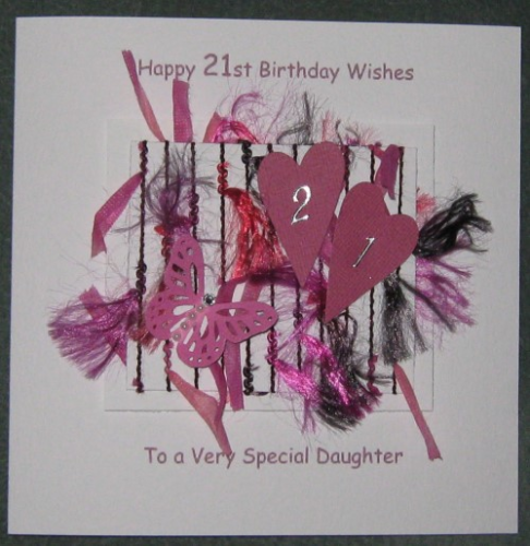 2 Personalised Handmade 21st Birthday Card