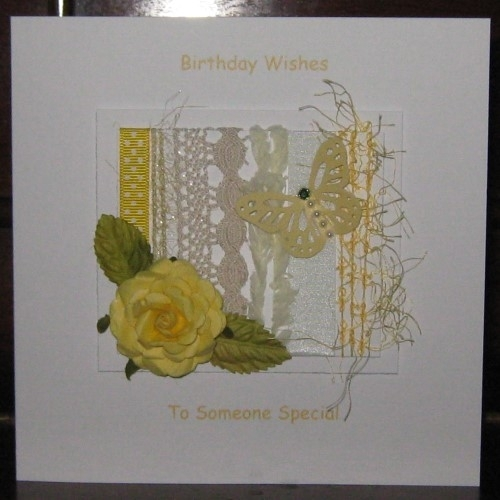 Personalised Handmade Birthday Card Yellow Rose Windrush Cards