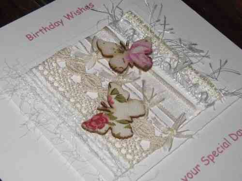 Personalised Handmade Birthday Card - Chintz Butterflies