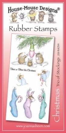 House Mouse Design Unmounted Rubber Stamp Set Christmas - Trio of Stockings