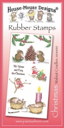 House Mouse Design Unmounted Rubber Stamp Set Christmas - Walnut Cradles