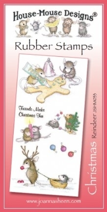 House Mouse Design Unmounted Rubber Stamp Set Christmas - Reindeer