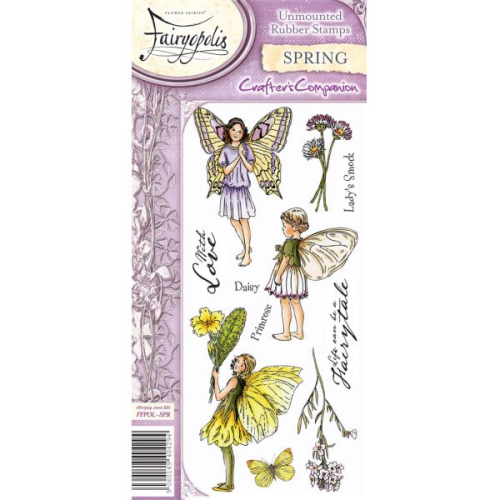 Flower Fairies Fairyopolis Unmounted Rubber Stamp Set - Spring