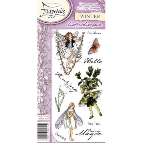 Flower Fairies Fairyopolis Unmounted Rubber Stamp Set - Winter