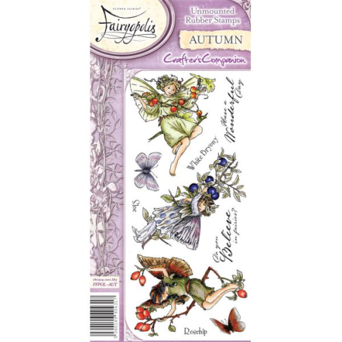 Flower Fairies Fairyopolis Unmounted Rubber Stamp Set - Autumn