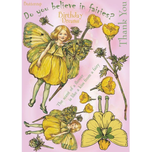 Flower Fairies Rubber Stamp Set - Buttercup