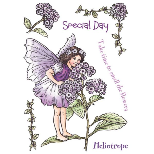 Flower Fairies of the Garden Rubber Stamp Set - Heliotrope