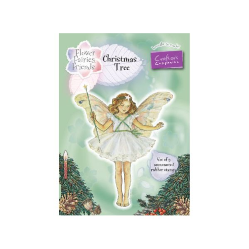 Flower Fairies Christmas Fairies Rubber Stamp Set - Christmas Tree