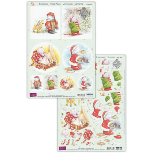 Humphrey's Corner Christmas Die Cut Decoupage Sheet 3