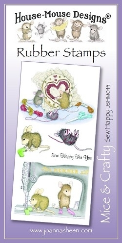 House Mouse Design Unmounted Rubber Stamp Set Mice