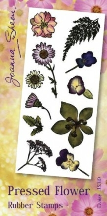 Joanna Sheen Pressed Flower Unmounted Rubber Stamp Set  - Daisy